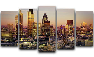 Tower 42 Gherkin Willis Building Stock Exchange Tower 5 Split Panel Canvas  - Canvas Art Rocks - 1