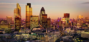 Tower 42 Gherkin Willis Building Stock Exchange Tower Wall Mural Wallpaper - Canvas Art Rocks - 1
