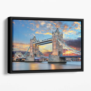 Tower Bridge Floating Framed Canvas