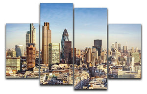 Tower Lloyds of London and Canary Wharf 4 Split Panel Canvas  - Canvas Art Rocks - 1
