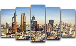 Tower Lloyds of London and Canary Wharf 5 Split Panel Canvas  - Canvas Art Rocks - 1