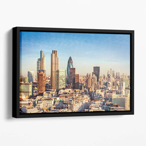 Tower Lloyds of London and Canary Wharf Floating Framed Canvas