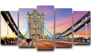 Tower bridge Motion 5 Split Panel Canvas  - Canvas Art Rocks - 1