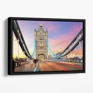 Tower bridge Motion Floating Framed Canvas
