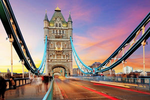 Tower bridge Motion Wall Mural Wallpaper - Canvas Art Rocks - 1