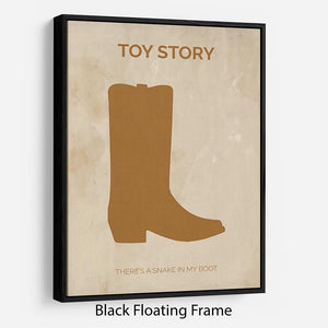 Toy Story Minimal Movie Floating Frame Canvas - Canvas Art Rocks - 1