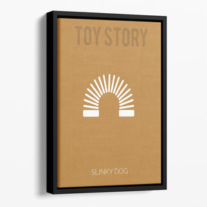 Toy Story Slinky Dog Minimal Movie Floating Framed Canvas - Canvas Art Rocks - 1