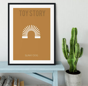 Toy Story Slinky Dog Minimal Movie Framed Print - Canvas Art Rocks - 1