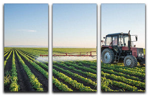 Tractor spraying 3 Split Panel Canvas Print - Canvas Art Rocks - 1