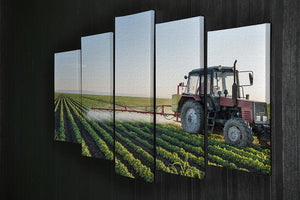 Tractor spraying 5 Split Panel Canvas  - Canvas Art Rocks - 2