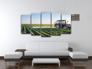 Tractor spraying 5 Split Panel Canvas  - Canvas Art Rocks - 3