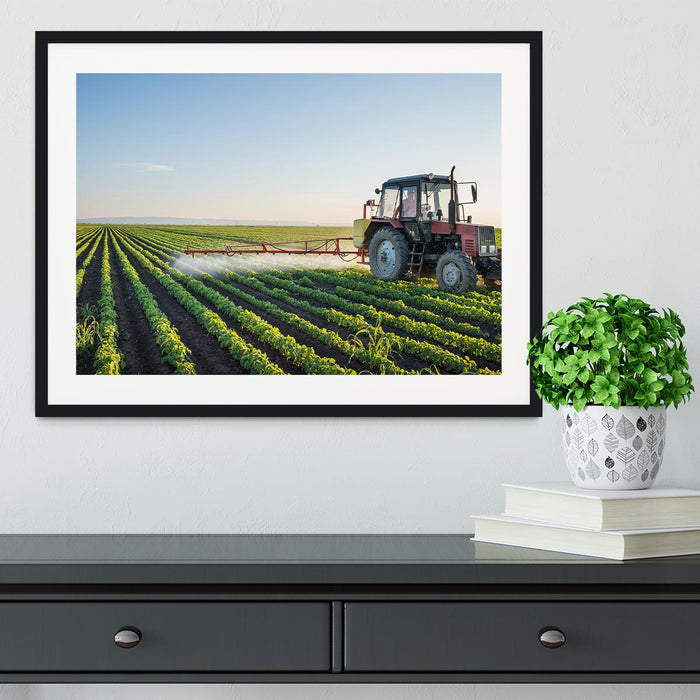 Tractor spraying Framed Print