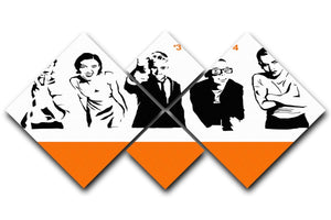 Trainspotting 4 Square Multi Panel Canvas  - Canvas Art Rocks - 1