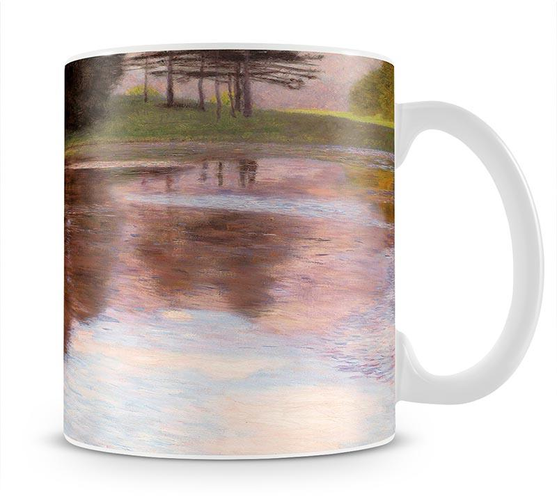 Tranquil Pond near Salzburg by Klimt Mug - Canvas Art Rocks - 1