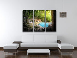Tranquil and peaceful nature 3 Split Panel Canvas Print - Canvas Art Rocks - 3