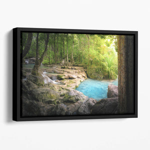 Tranquil and peaceful nature Floating Framed Canvas