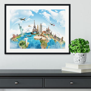 Travel the world Framed Print - Canvas Art Rocks - 1