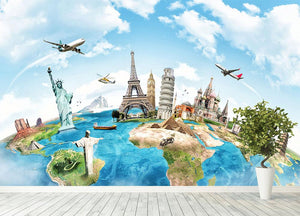 Travel the world Wall Mural Wallpaper - Canvas Art Rocks - 4