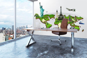 Travel the world concept Wall Mural Wallpaper - Canvas Art Rocks - 3