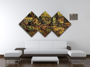 Tree Trunks with Ivy by Van Gogh 4 Square Multi Panel Canvas - Canvas Art Rocks - 3