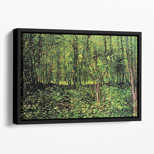 Trees and Undergrowth 2 by Van Gogh Floating Framed Canvas