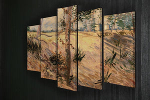 Trees in a Field on a Sunny Day by Van Gogh 5 Split Panel Canvas - Canvas Art Rocks - 2