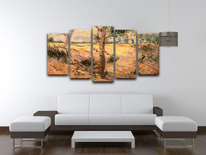 Trees in a Field on a Sunny Day by Van Gogh 5 Split Panel Canvas - Canvas Art Rocks - 3