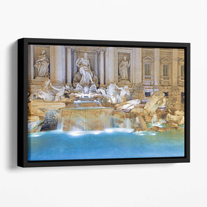 Trevi Fountain Rome Floating Framed Canvas