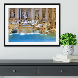 Trevi Fountain Rome Framed Print - Canvas Art Rocks - 1
