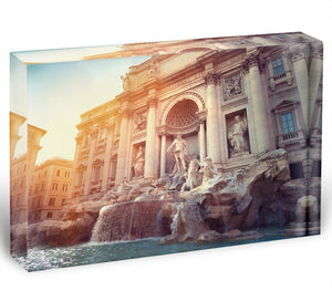 Trevi Fountain in Rome Italy Acrylic Block - Canvas Art Rocks - 1