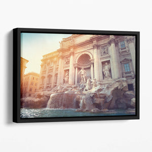 Trevi Fountain in Rome Italy Floating Framed Canvas