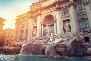 Trevi Fountain in Rome Italy Wall Mural Wallpaper - Canvas Art Rocks - 1