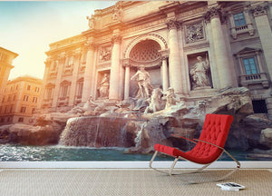 Trevi Fountain in Rome Italy Wall Mural Wallpaper - Canvas Art Rocks - 2