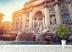 Trevi Fountain in Rome Italy Wall Mural Wallpaper - Canvas Art Rocks - 4