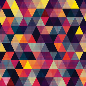 Triangle background texture Wall Mural Wallpaper - Canvas Art Rocks - 1