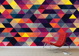 Triangle background texture Wall Mural Wallpaper - Canvas Art Rocks - 2