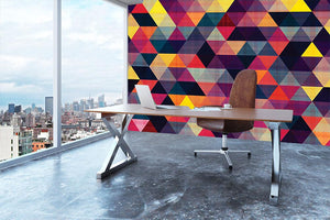 Triangle background texture Wall Mural Wallpaper - Canvas Art Rocks - 3