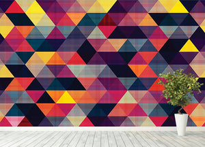 Triangle background texture Wall Mural Wallpaper - Canvas Art Rocks - 4