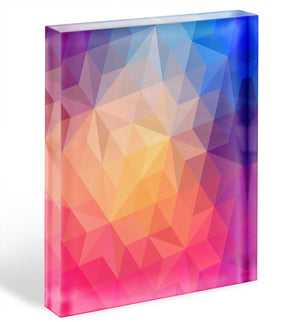 Triangles pattern of geometric shapes Acrylic Block - Canvas Art Rocks - 1