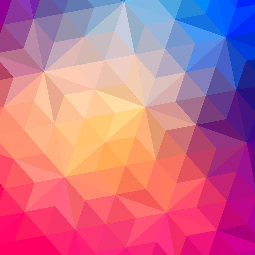 triangles pattern of geometric shapes wall mural wallpaper | canvas