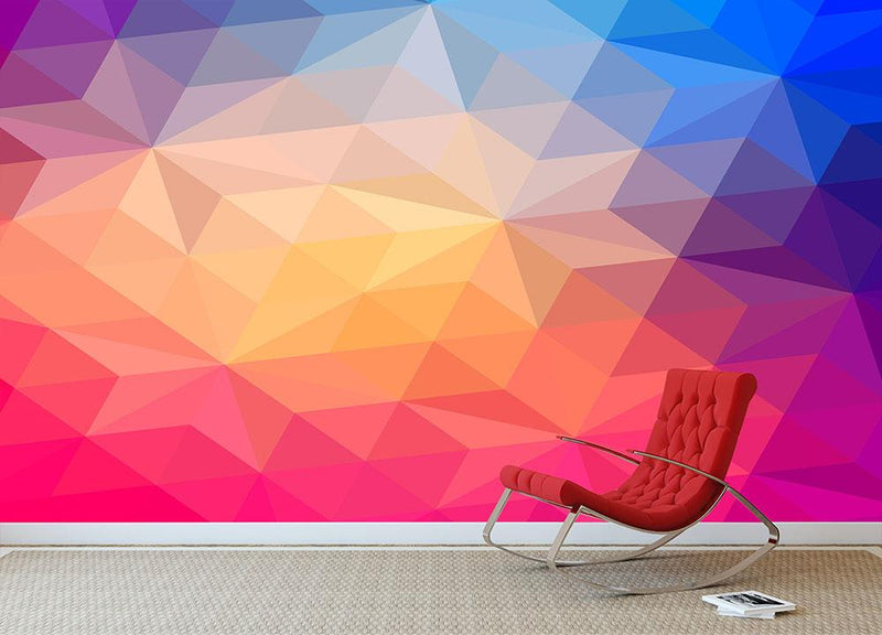Triangles pattern of geometric shapes Wall Mural Wallpaper - Canvas Art Rocks - 1