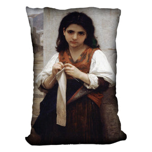 Tricoteuse By Bouguereau Cushion