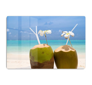 Tropical Coconut Cocktail HD Metal Print - Canvas Art Rocks - 1