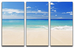 Tropical white sand beach and blue sky 3 Split Panel Canvas Print - Canvas Art Rocks - 1