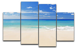 Tropical white sand beach and blue sky 4 Split Panel Canvas - Canvas Art Rocks - 1