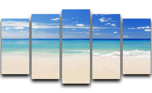Tropical white sand beach and blue sky 5 Split Panel Canvas - Canvas Art Rocks - 1