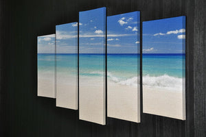 Tropical white sand beach and blue sky 5 Split Panel Canvas - Canvas Art Rocks - 2