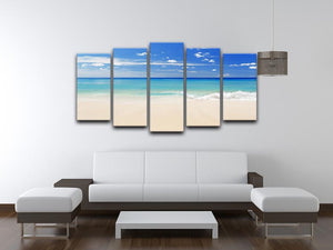 Tropical white sand beach and blue sky 5 Split Panel Canvas - Canvas Art Rocks - 3