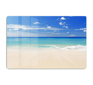 Tropical white sand beach and blue sky HD Metal Print - Canvas Art Rocks - 1