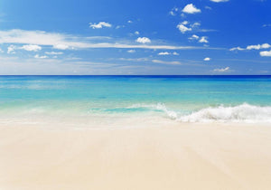 Tropical white sand beach and blue sky Wall Mural Wallpaper - Canvas Art Rocks - 1